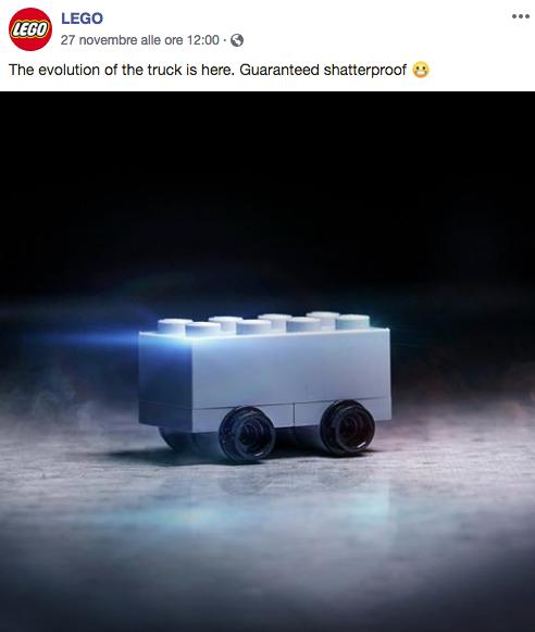 Cybertruck? Anche la LEGO si è divertita!